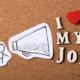 Megafon und Schriftzug I love my Job